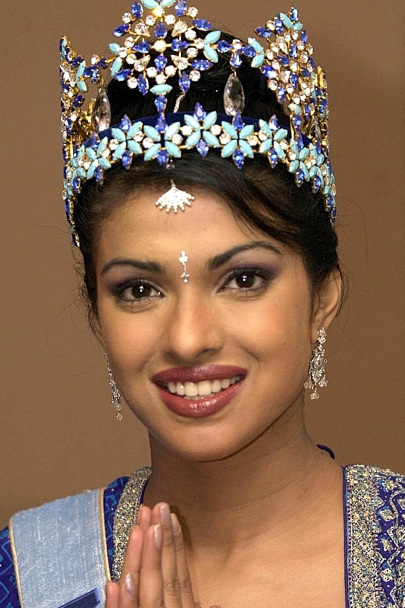 Priyanka Chopra, Miss World photocall, 2000