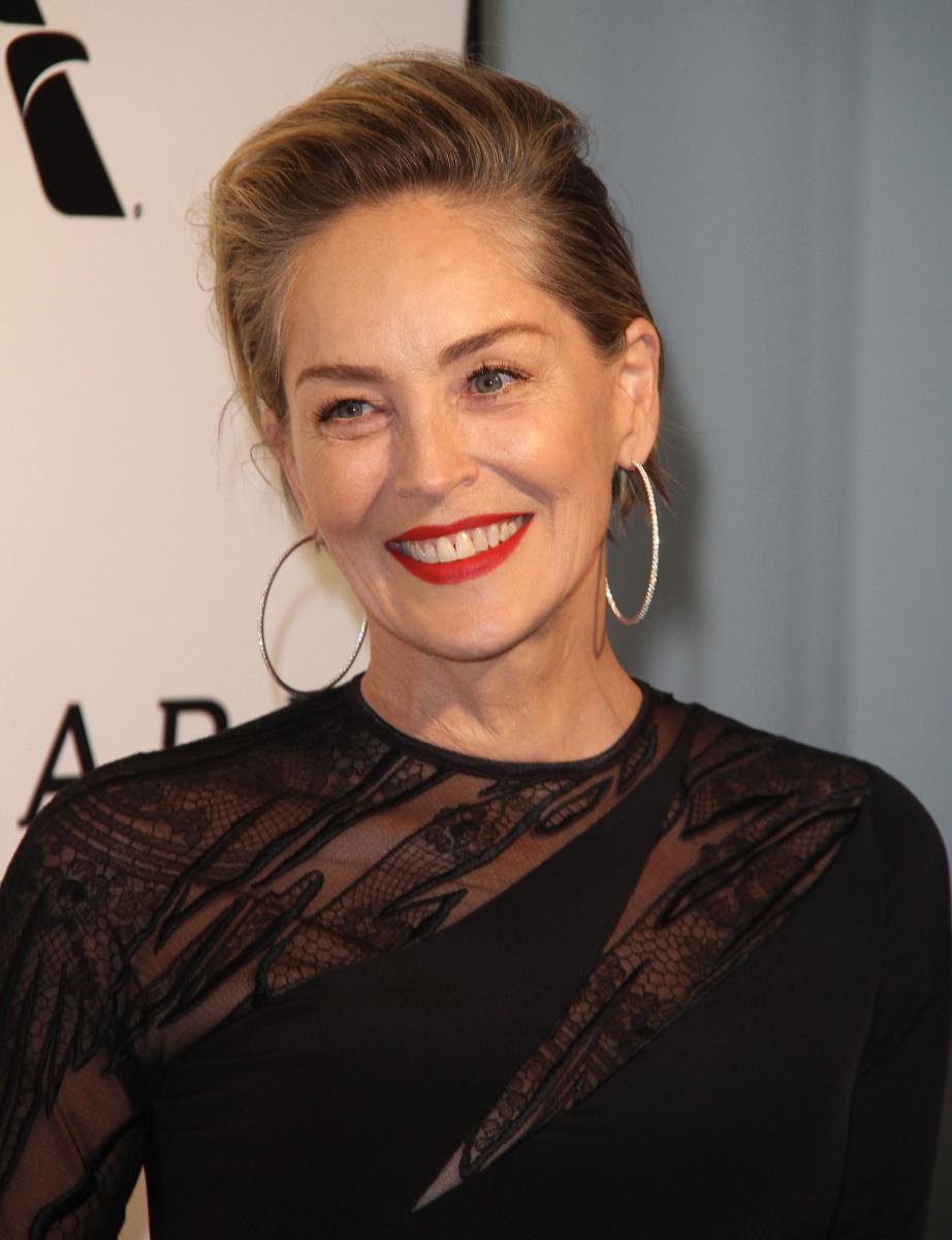 Sharon Stone, Vanity Fair Oscar party, 2017