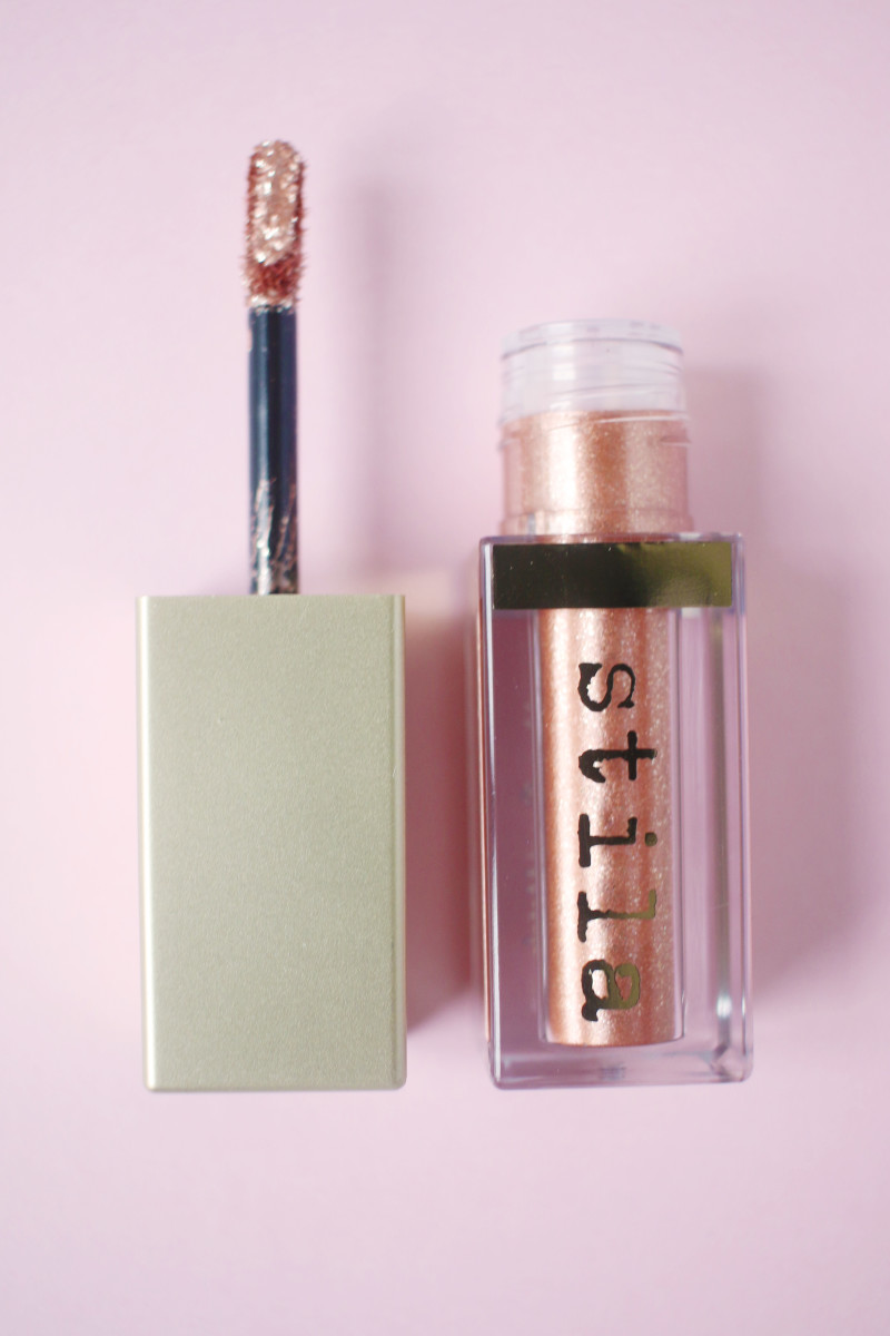Stila Magnificent Metals Glitter and Glow Liquid Eye Shadow in Rose Gold Retro