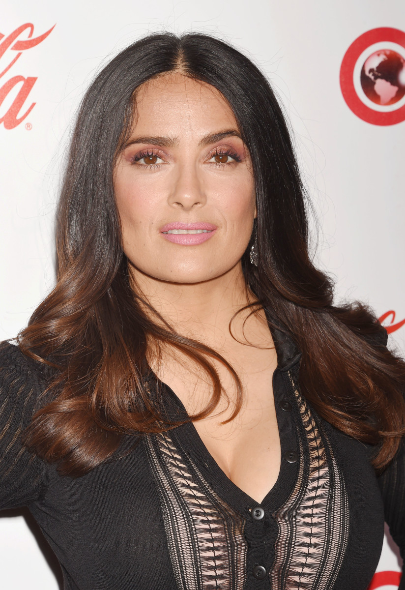 Salma Hayek Hairstyles Long Braided Hairstyle Pretty