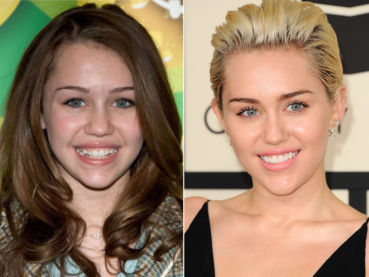 Miley Cyrus before and after
