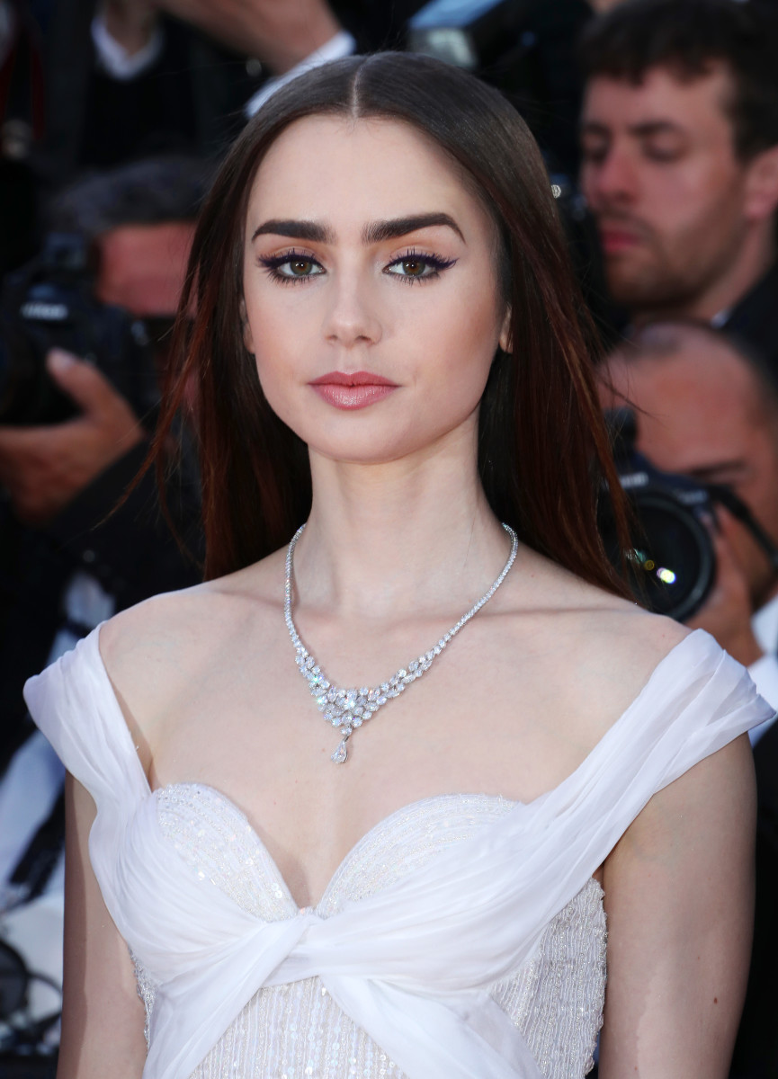 Lily Collins, Okja Cannes premiere, 2017