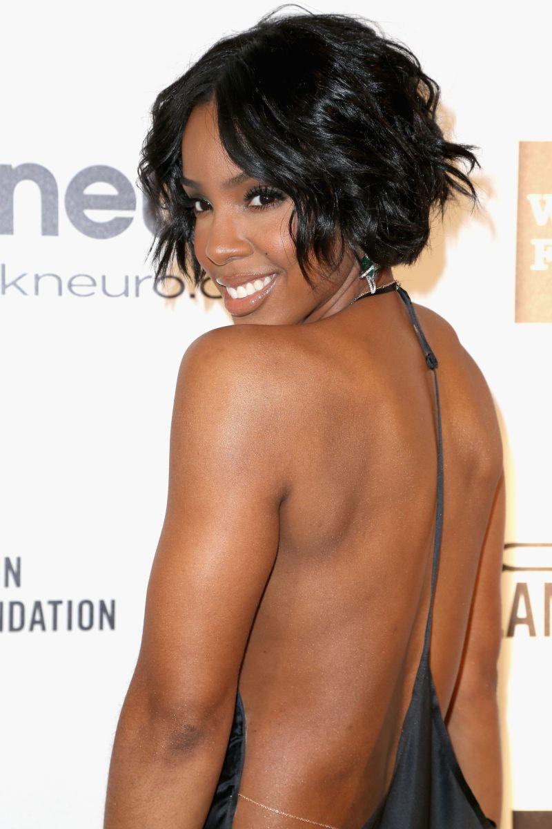 Kelly Rowland, Elton John AIDS Foundation Oscar viewing party, 2014