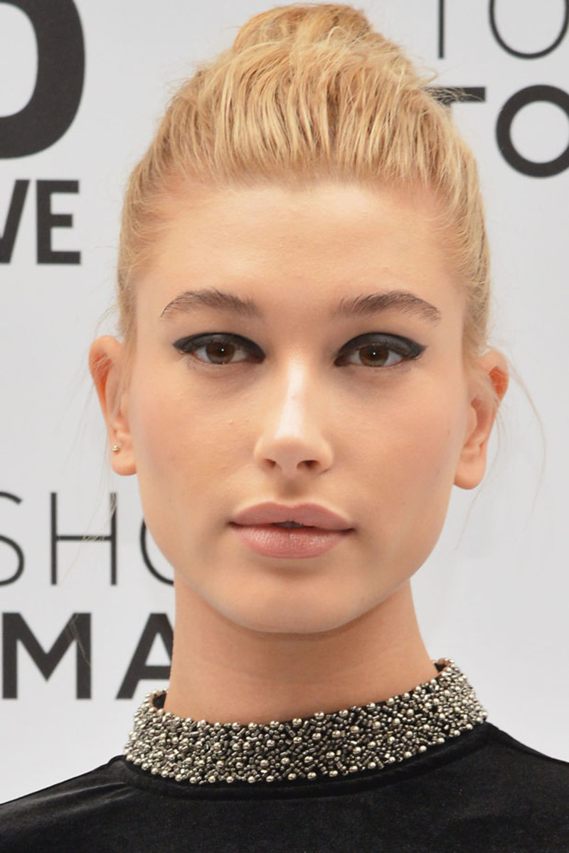 Hailey Baldwin, Topshop Topman New York flagship opening, 2014