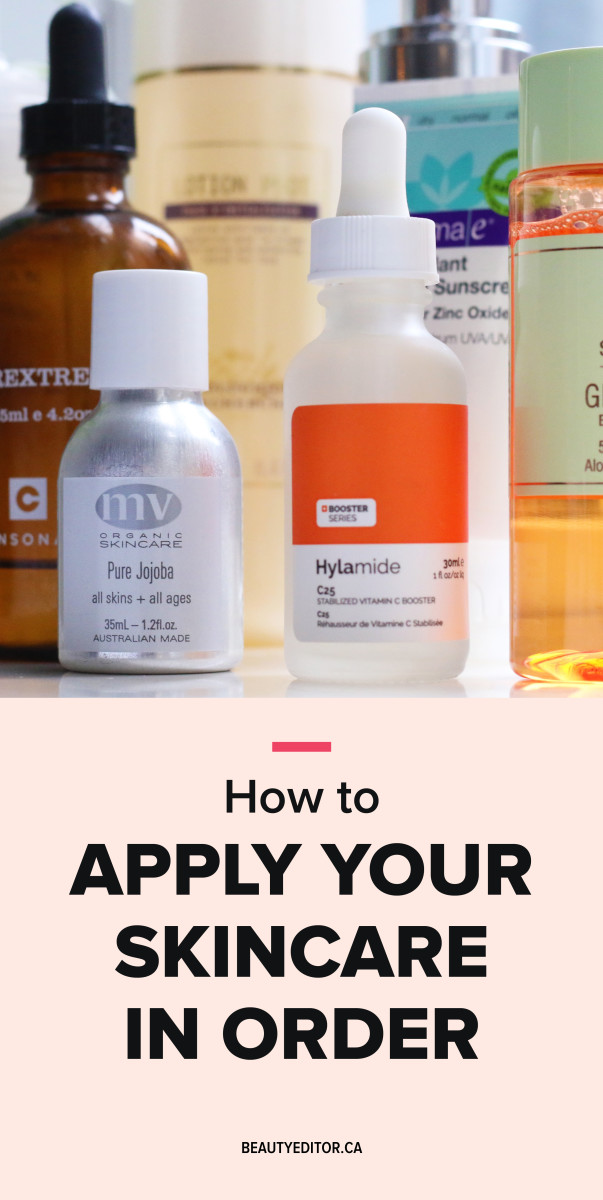 How to apply your skincare in order