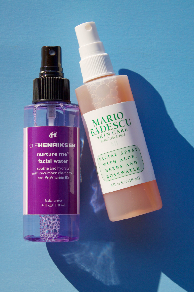 Face mists for allergies