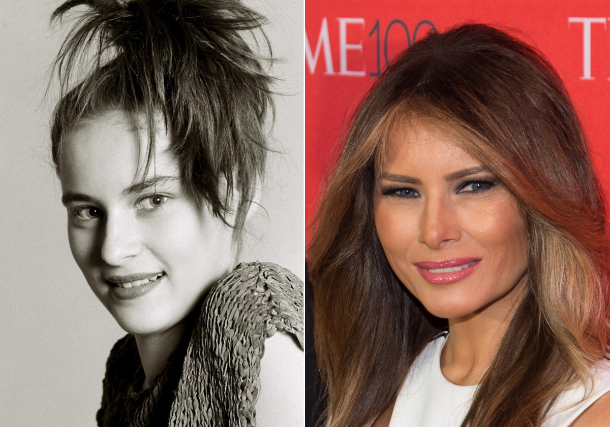 Melania Trump, before and after