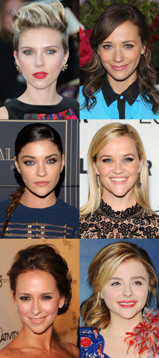 Inverted triangle face shape celebrity examples