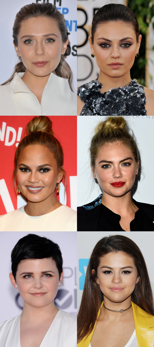 Round face shape celebrity examples