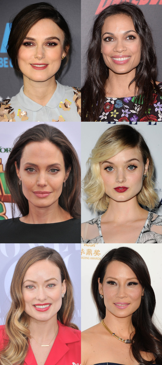 Square face shape celebrity examples