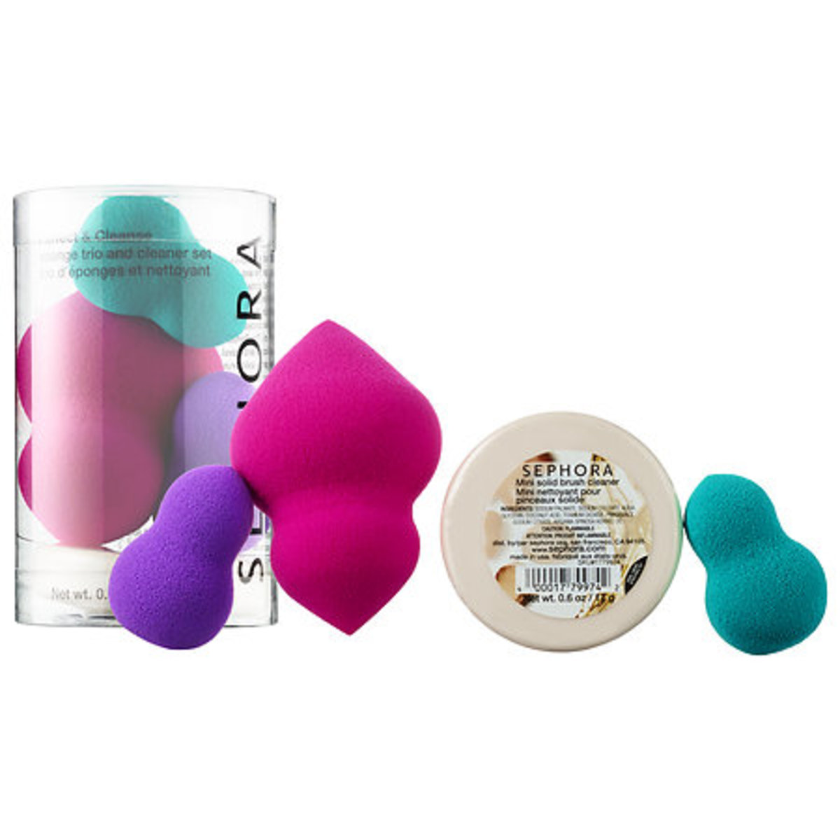Sephora Collection Perfect and Cleanse Sponge Trio and Cleaner Set