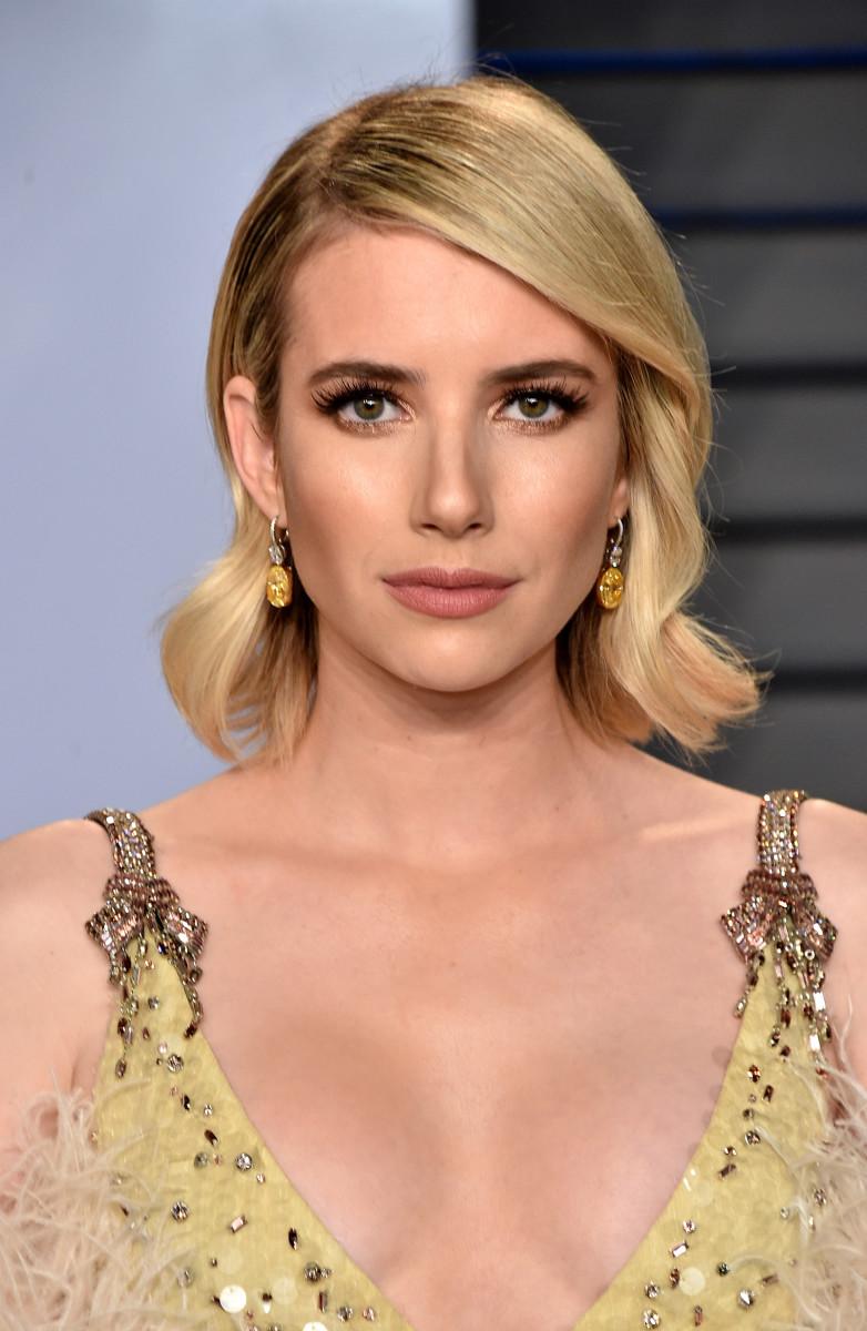 Emma Roberts, Vanity Fair Oscar party, 2018