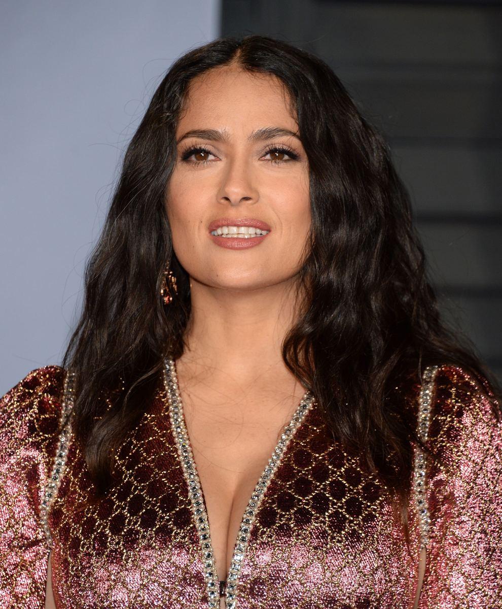 Salma Hayek, Vanity Fair Oscar party, 2018