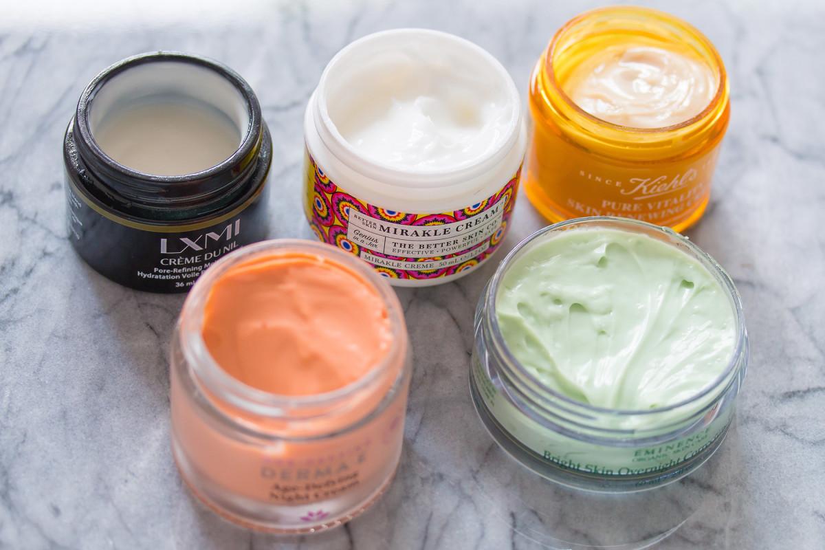 Skincare in jars