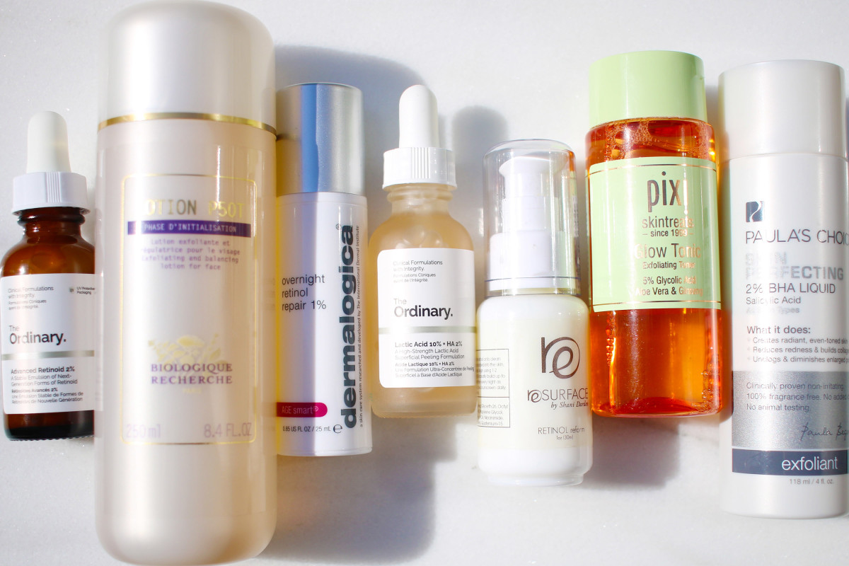 Acids and retinol
