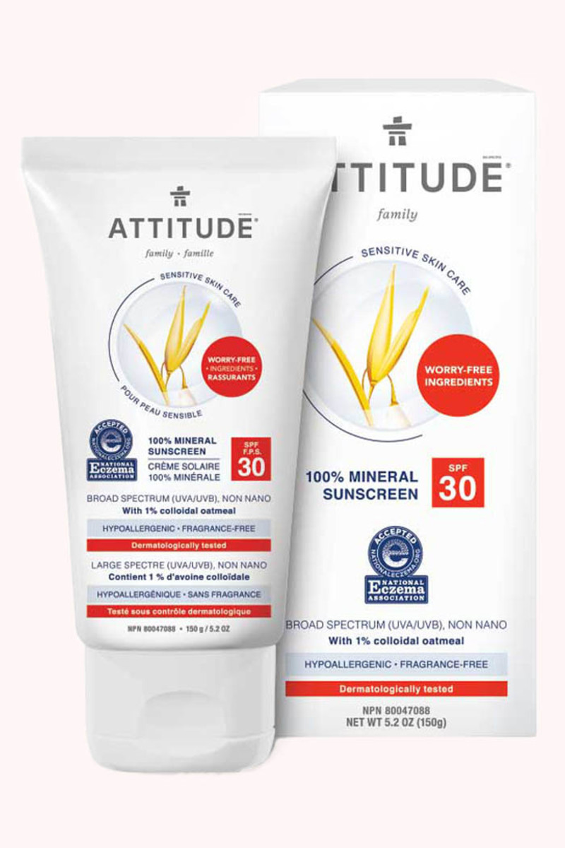 Attitude Sensitive Skin 100 Percent Mineral Sunscreen SPF 30