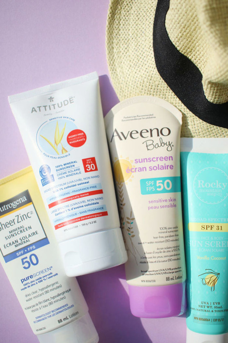 Zinc oxide sunscreen for body