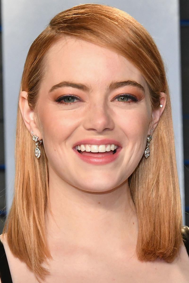 Emma Stone, Vanity Fair Oscar party, 2018