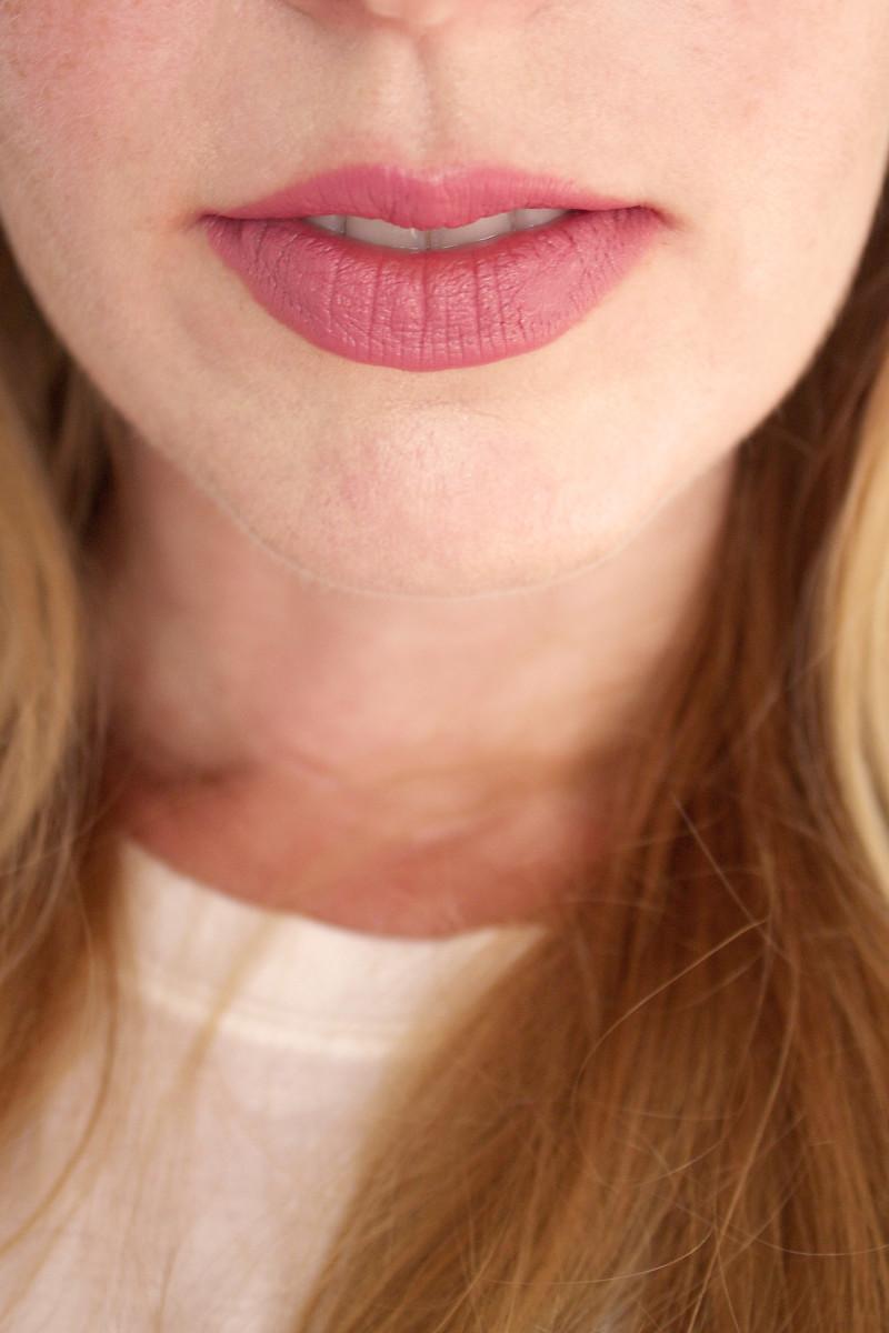 Bite Beauty Multistick in Macaroon (on lips)
