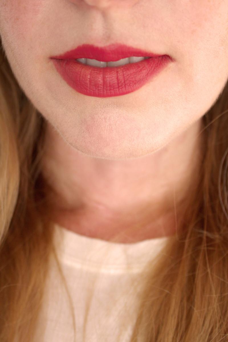 Bite Beauty Multistick in Mochi (on lips)