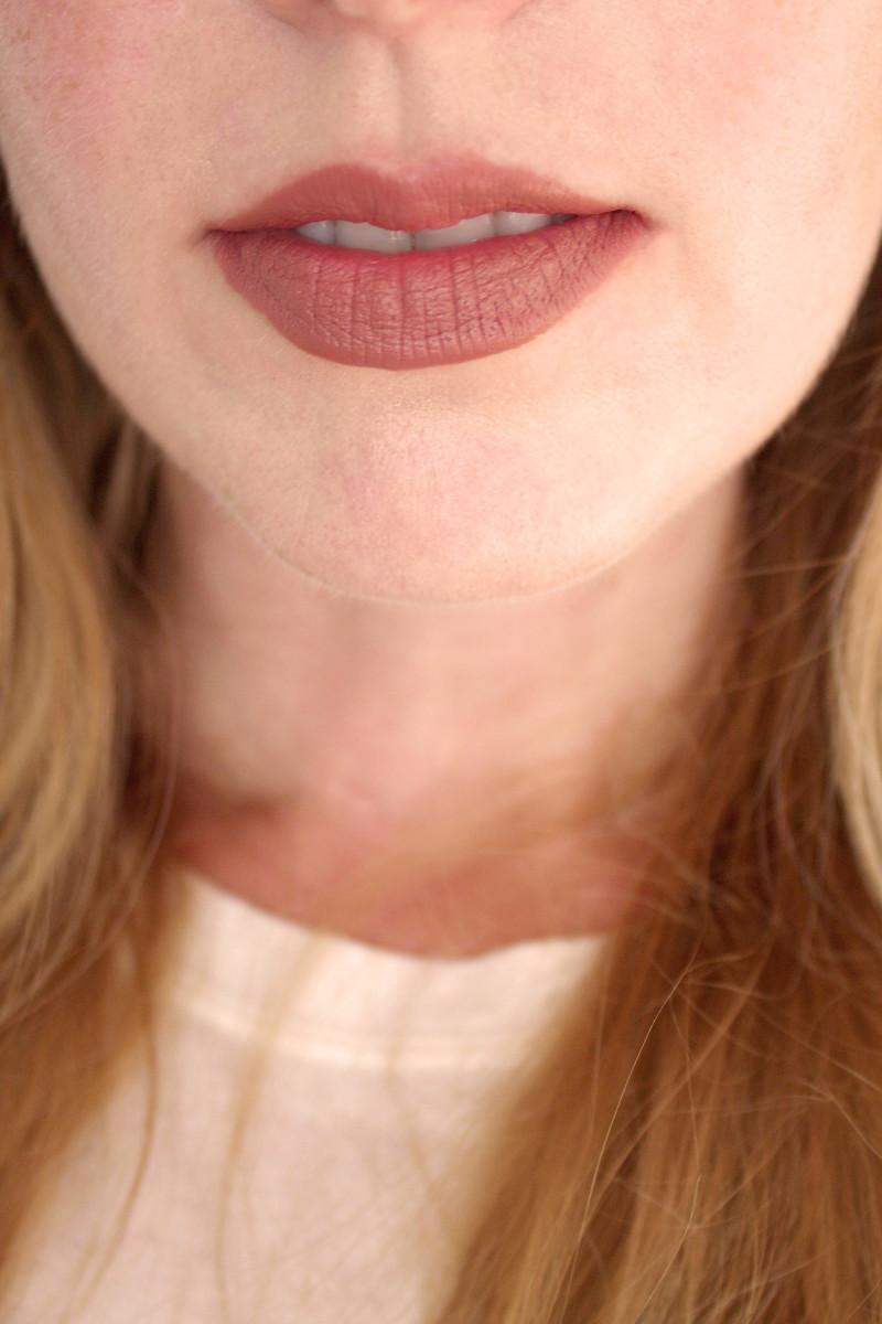 Bite Beauty Multistick in Brioche (on lips)