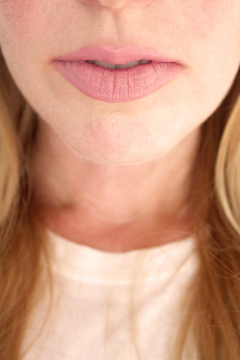 Bite Beauty Multistick in Lotus (on lips)