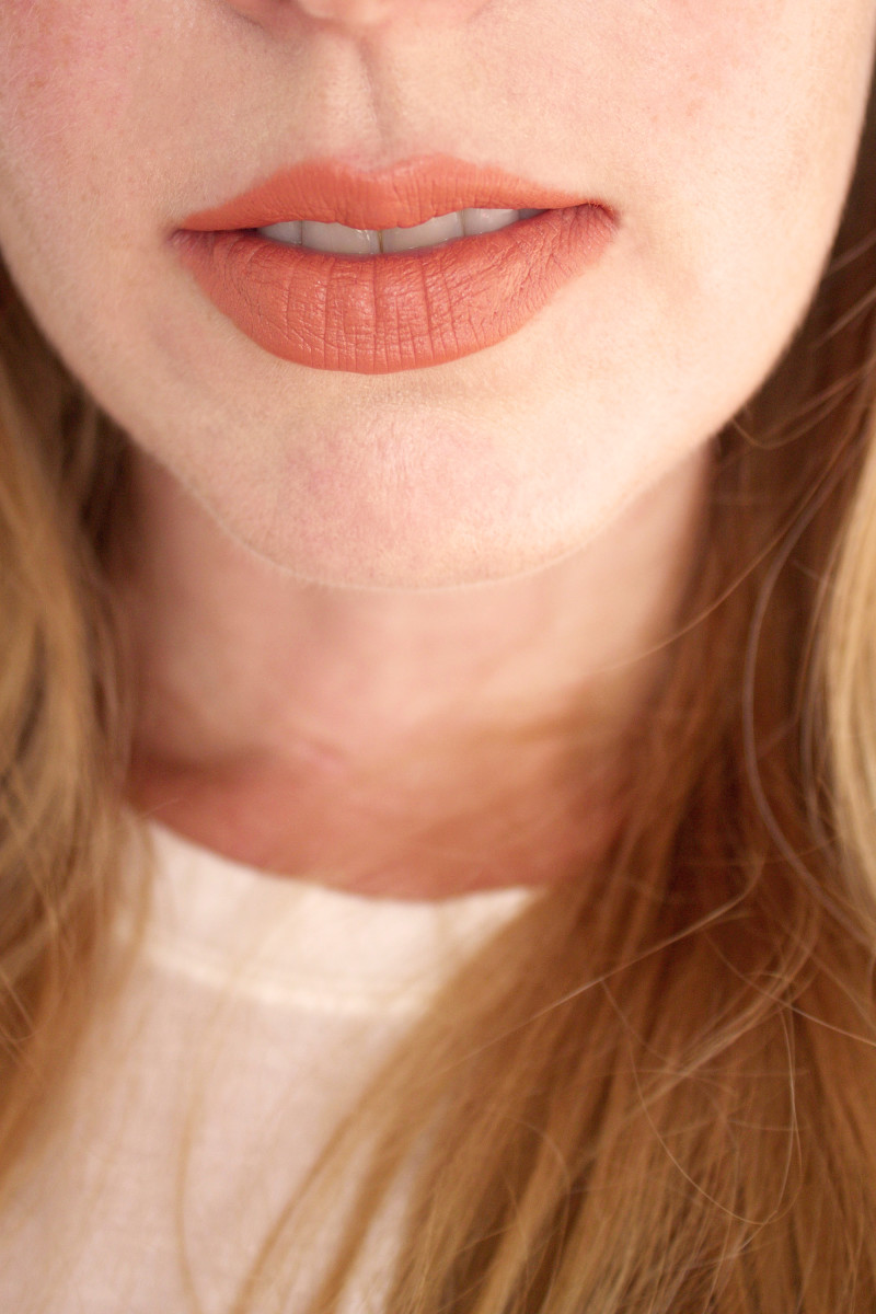 Bite Beauty Multistick in Praline (on lips)