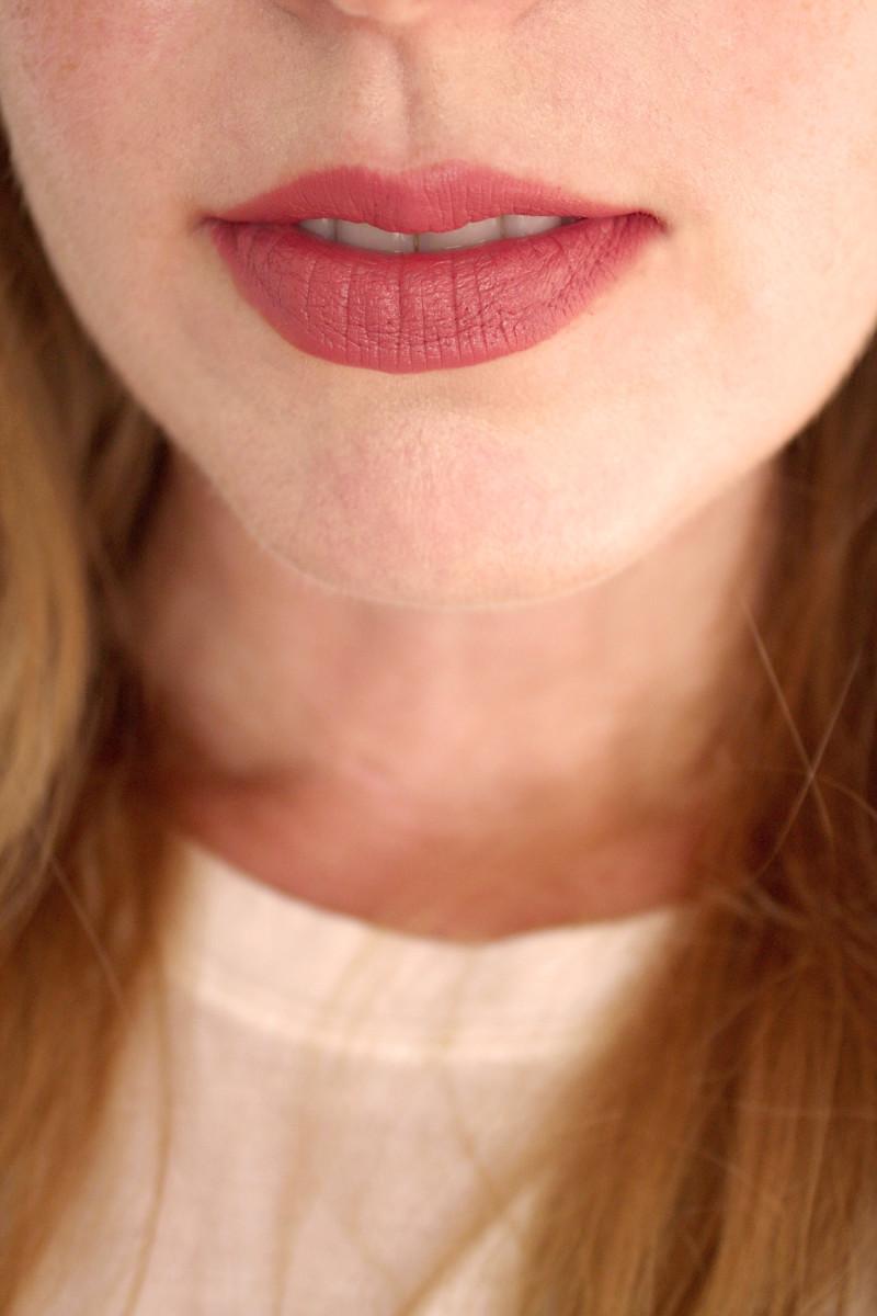 Bite Beauty Multistick in Mascarpone (on lips)