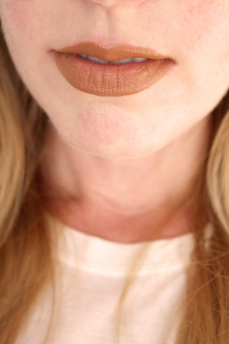 Bite Beauty Multistick in Honeywheat (on lips)