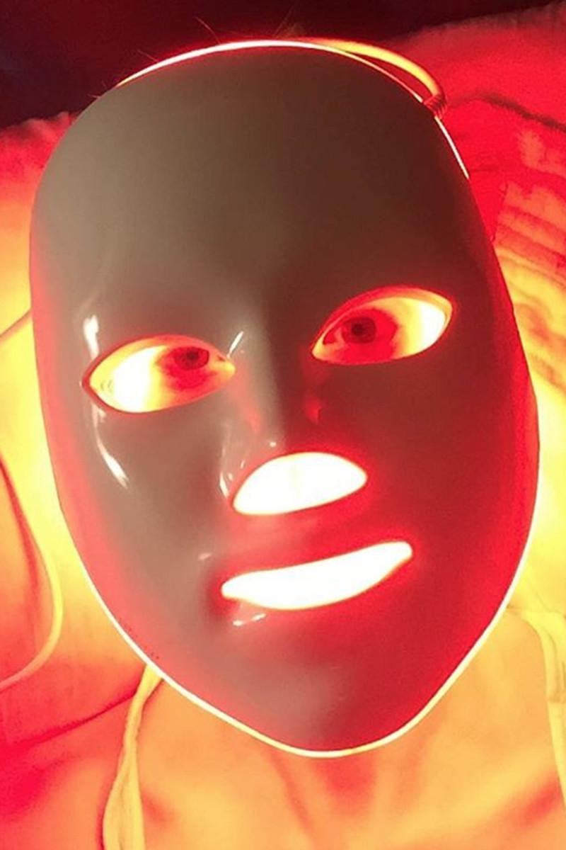 January Jones LED mask