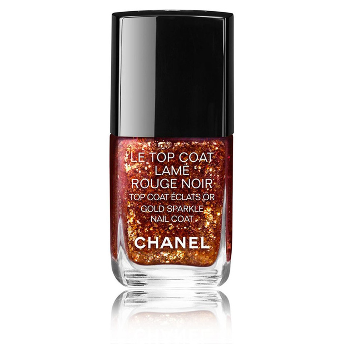 Chanel Le Top Coat Lame Rouge Noir