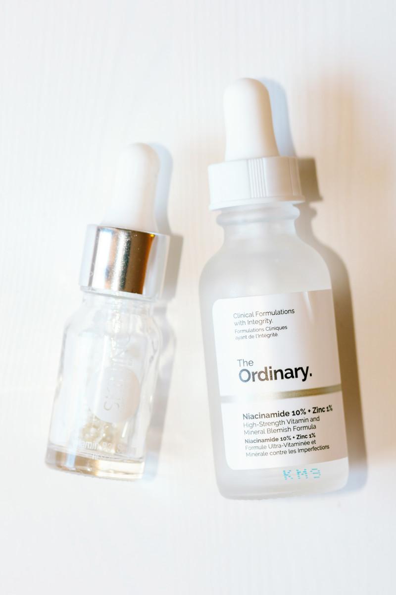 Skin Inc. Vitamin B3 Niacinamide Serum and The Ordinary Niacinamide 10 Percent Zinc 1 Percent
