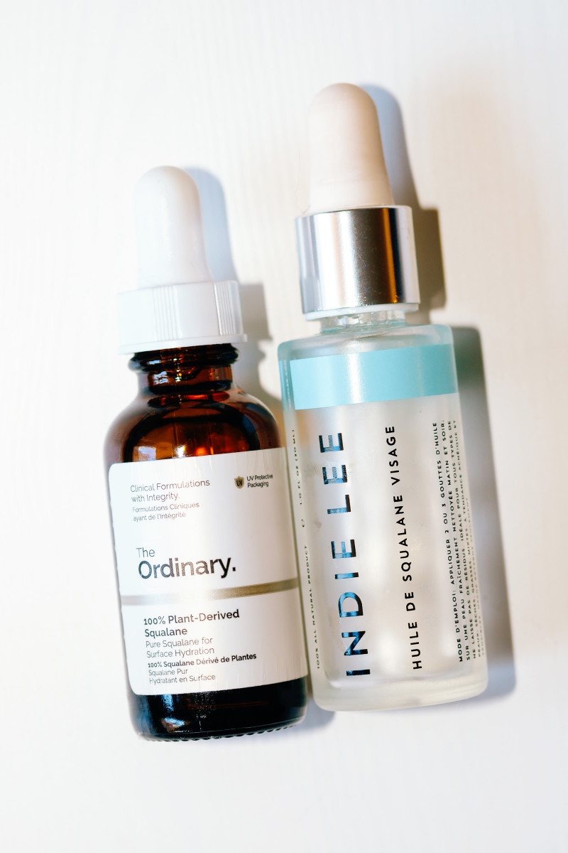 The Ordinary 100 Percent Plant-Derived Squalane, Indie Lee Squalane Facial Oil