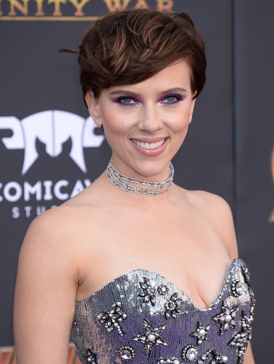 Scarlett Johansson, Avengers Infinity War premiere, 2018