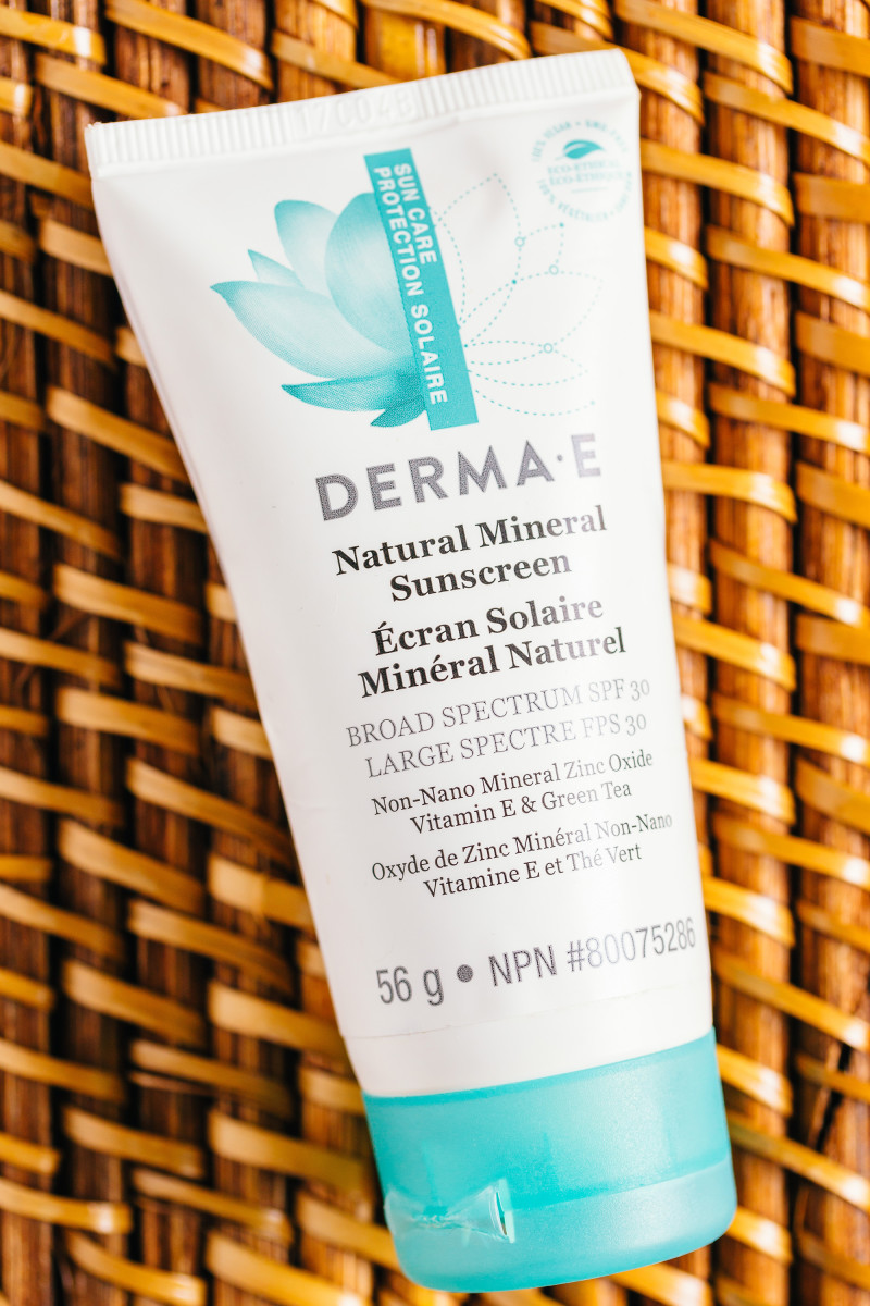 Sunscreen ingredients - Derma E Natural Mineral Sunscreen SPF 30