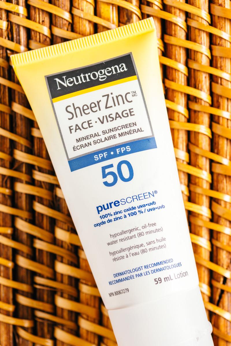 Sunscreen ingredients - Neutrogena Sheer Zinc Face Mineral Sunscreen SPF 50