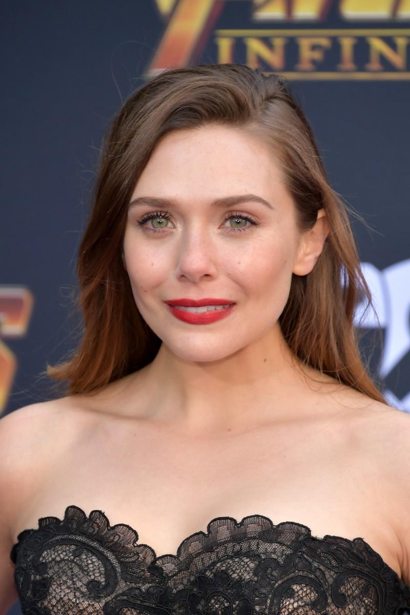 Elizabeth Olsen, Avengers Infinity War premiere, 2018