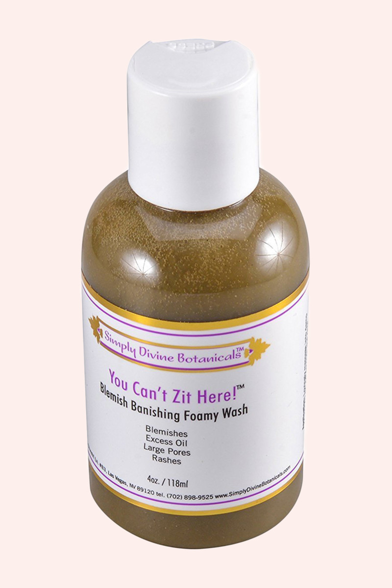 Simply Divine Botanicals You Can't Zit Here Blemish Banishing Foamy Wash