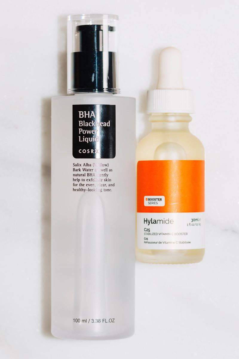 COSRX BHA Blackhead Power Liquid and Hylamide C25 Stabilized Vitamin C Booster