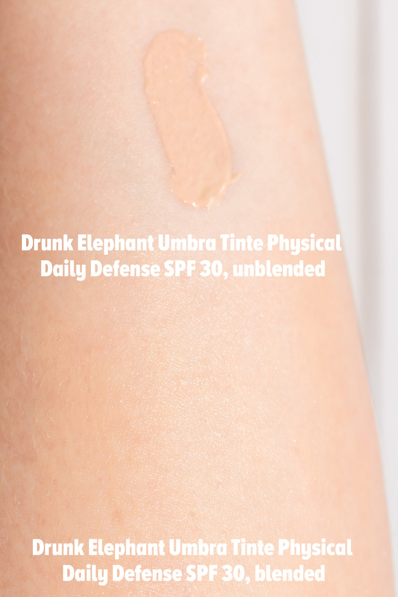 Drunk Elephant Umbra Tinte Physical Daily Defense SPF 30 (swatches)