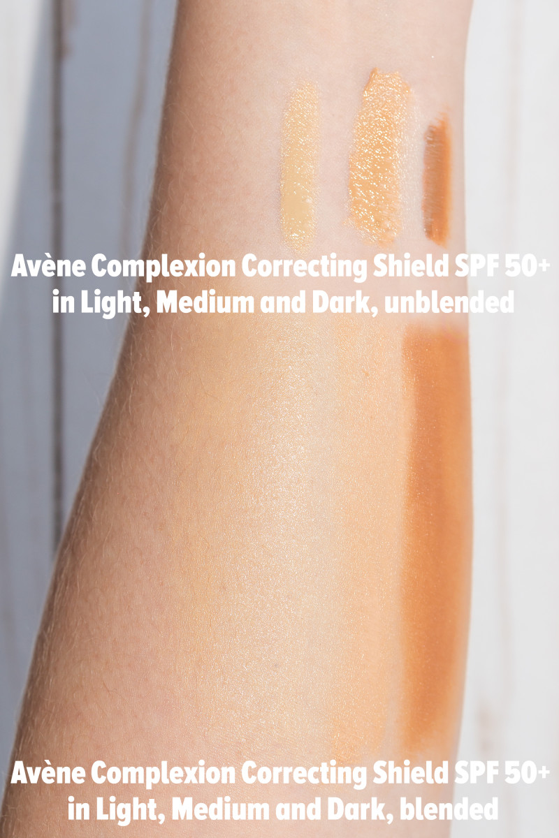 Avene Complexion Correcting Shield SPF 50 (swatches)