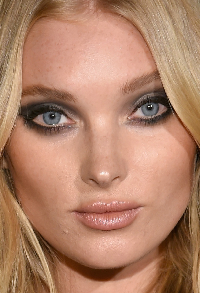 Best celebrity makeup looks smoky eyes pink lip gloss and more elsa hosk harpers bazaar icons party baditri Image collections