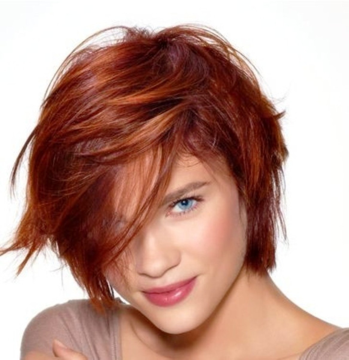 Red textured bob
