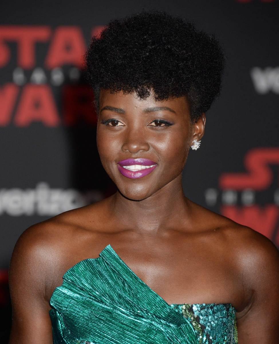 Lupita Nyong'o, Star Wars The Last Jedi premiere, 2017