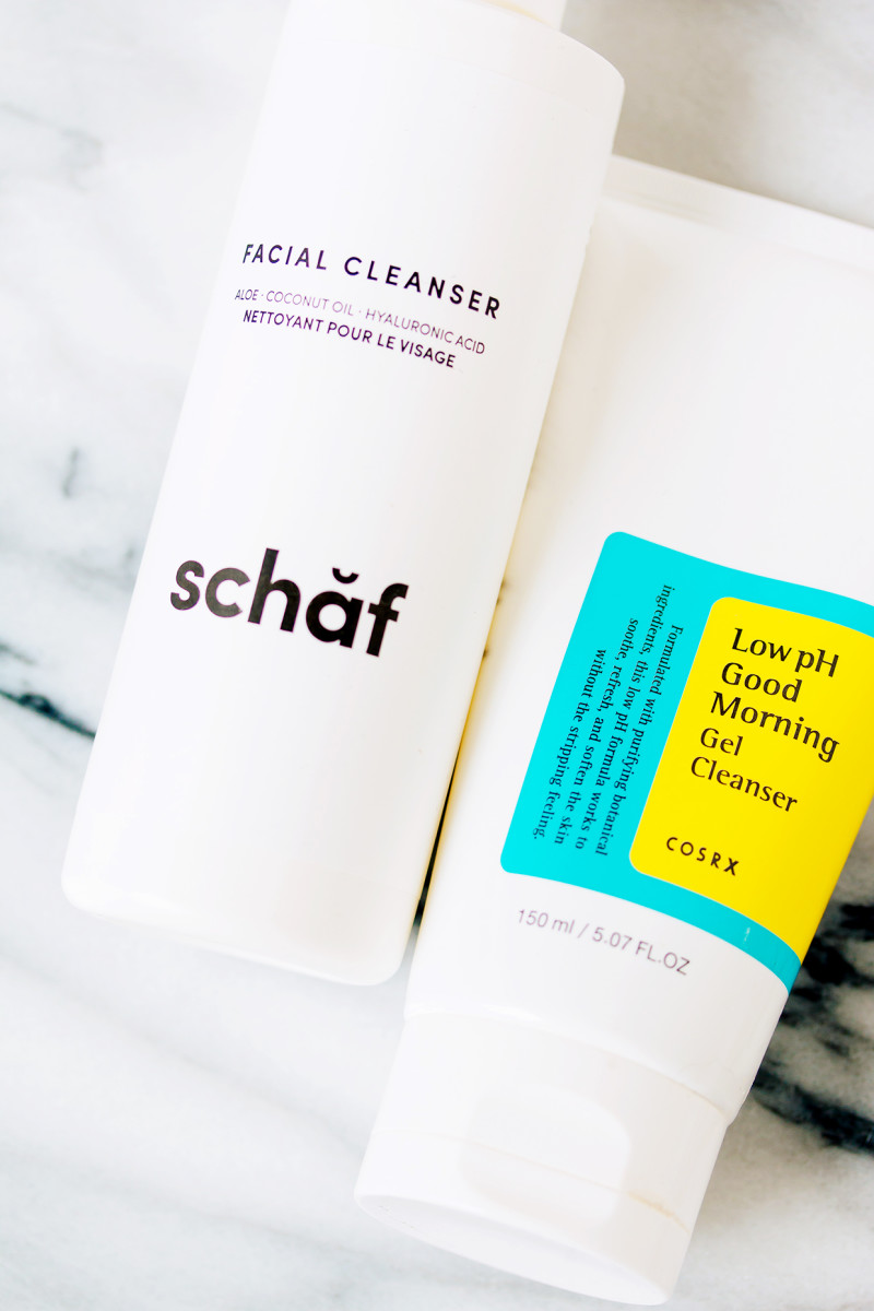 Winter skincare routine - morning cleansers