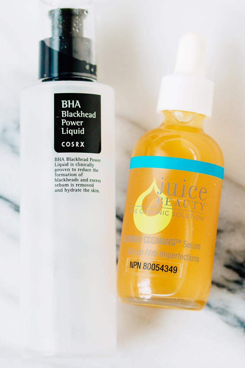 Winter skincare routine - BHAs