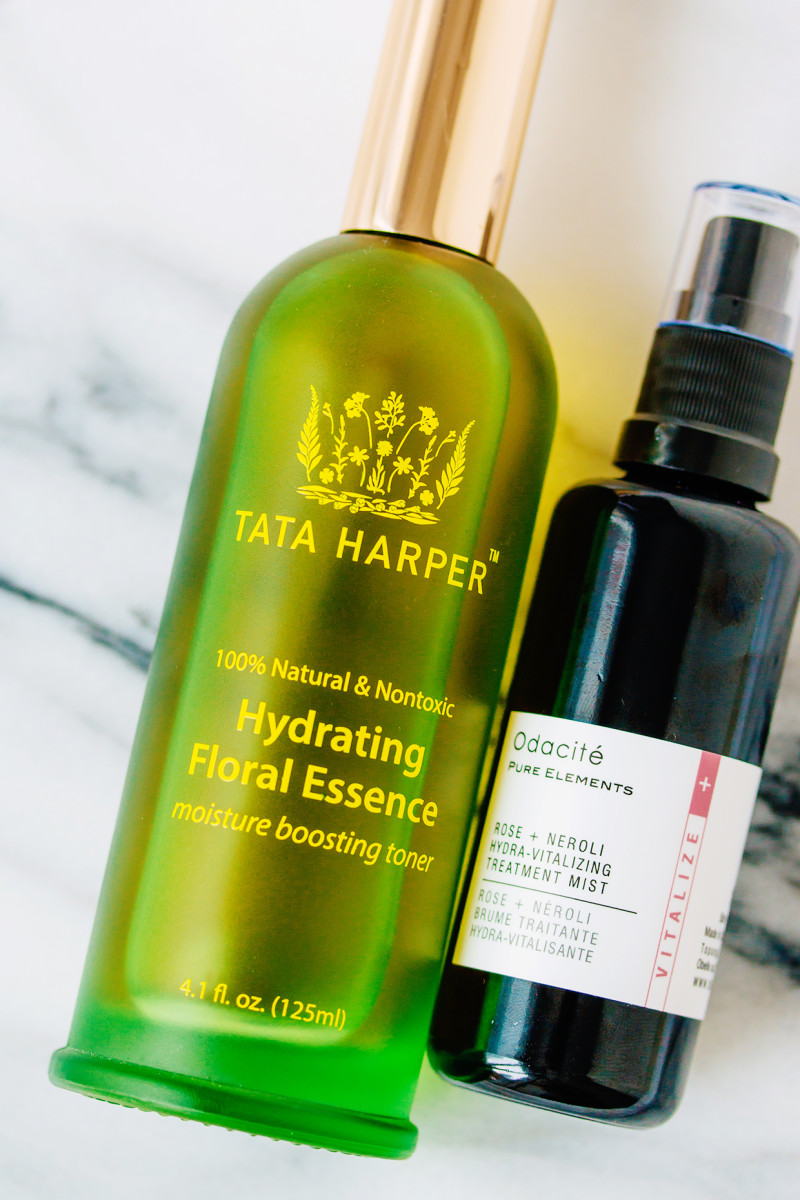Winter skincare routine - face mists