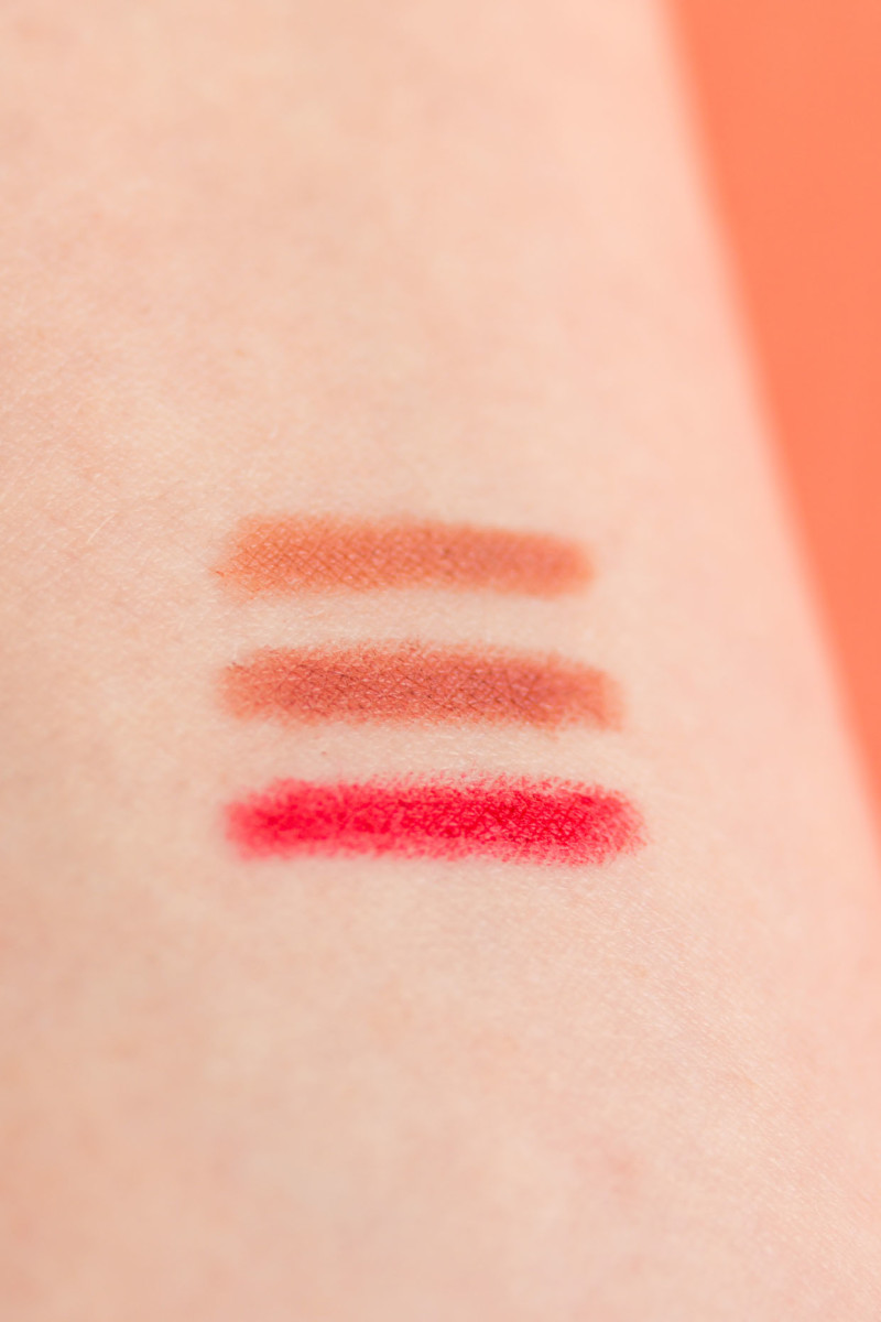 RMS Beauty Lip Liner swatches