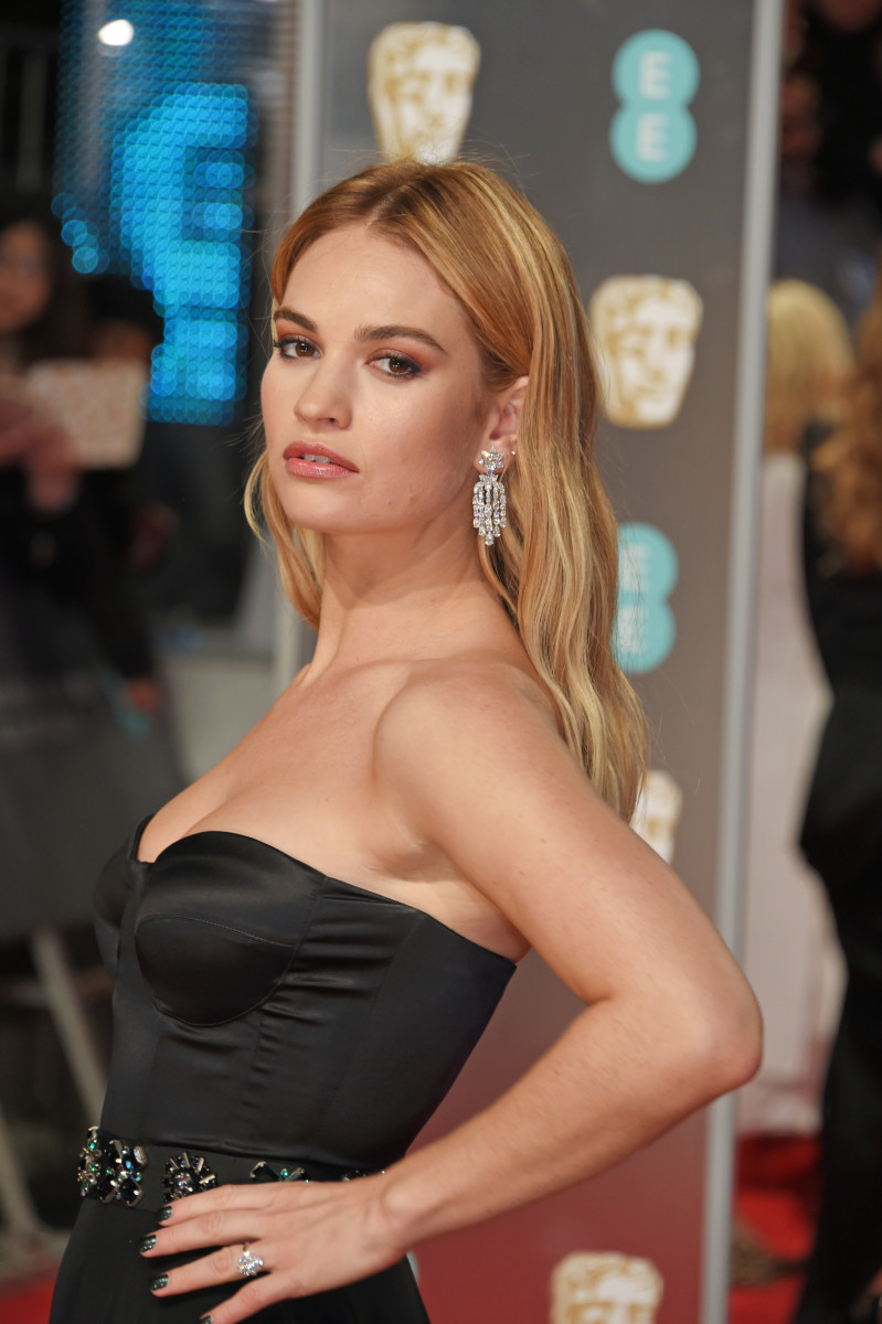 Lily James, British Academy Film Awards, 2018